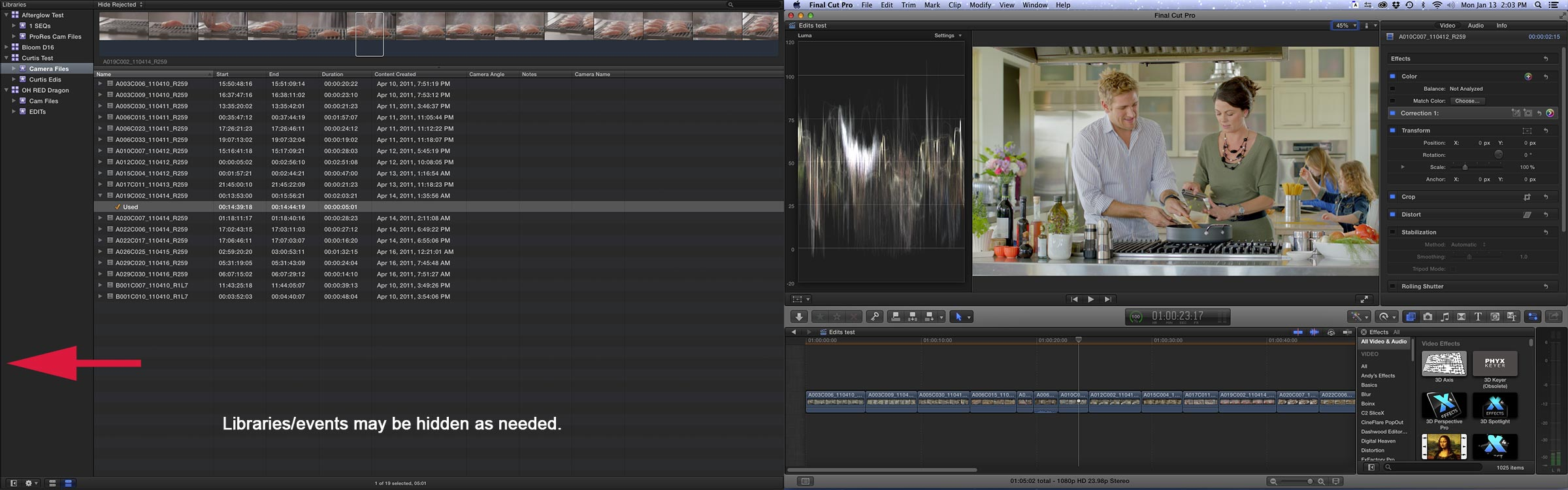 FCPX on 2 screens