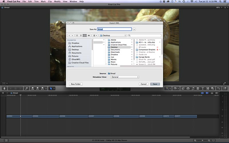 how to export aaf file from final cut pro