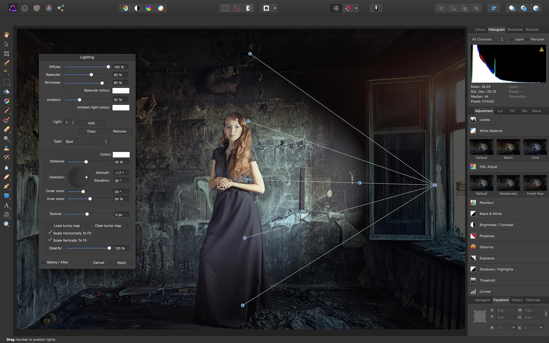 An image of Affinity Photo, an alternative to PhotoScape.