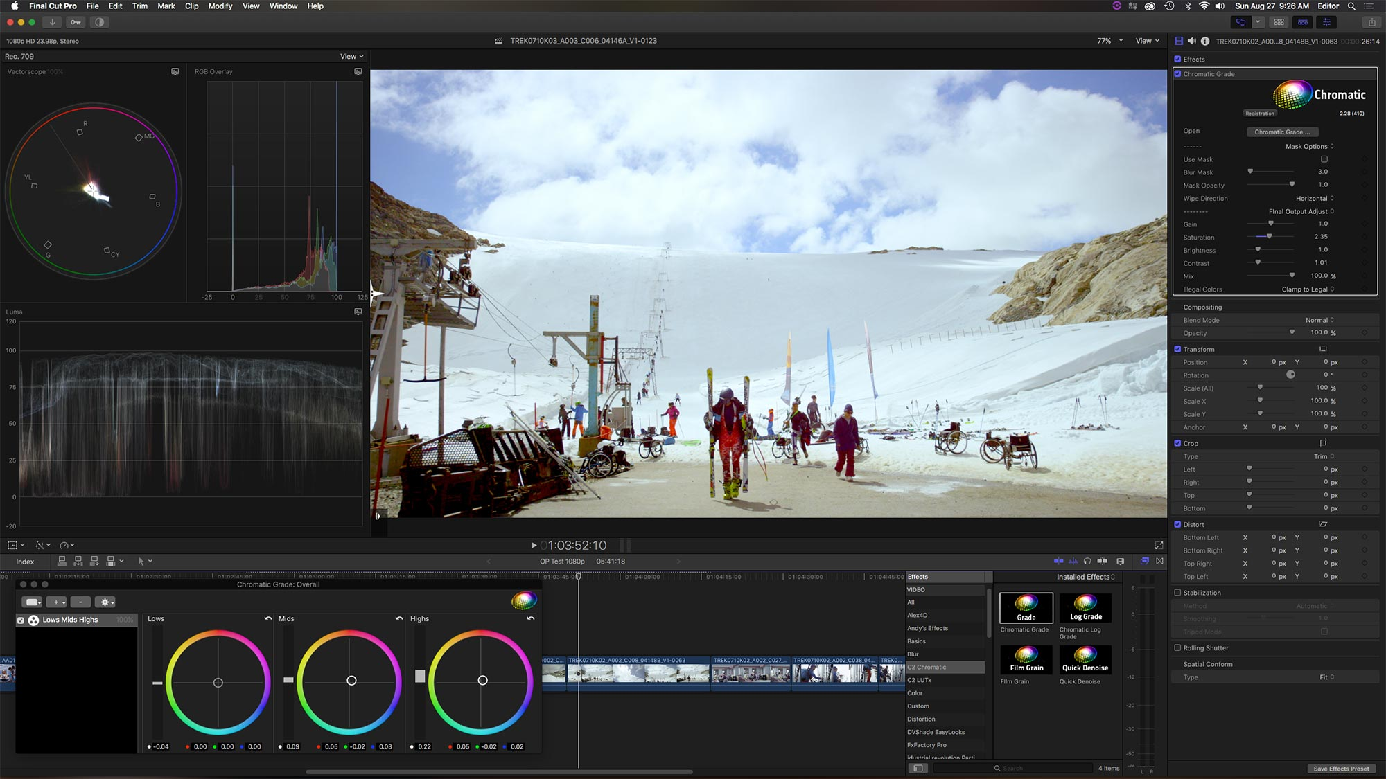 color grading digitalfilms