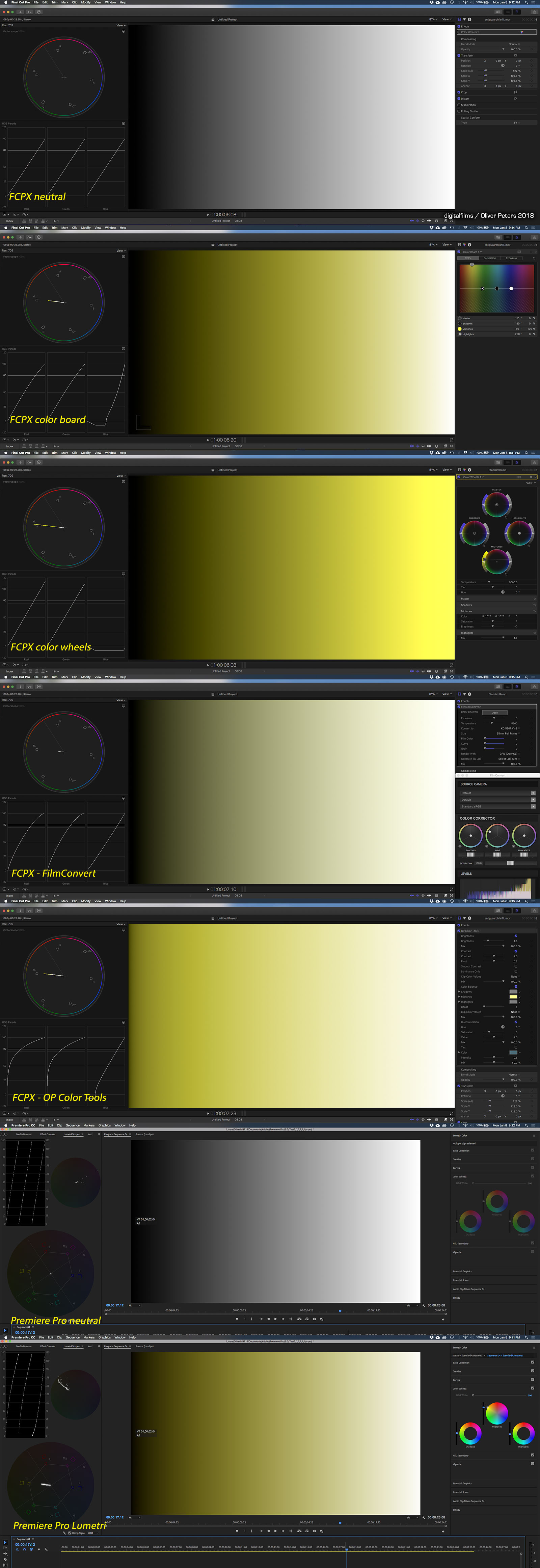 One other issue to note, is that the Color Wheels offer an extraordinarily  control range. The hue offset control RGB intensity values go from 0  (center of ...
